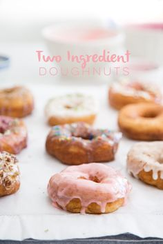 The Easiest Two-Ingredient Doughnut Recipe - Hither and Thither