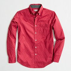 J.Crew Factory - Factory washed shirt in red paisley