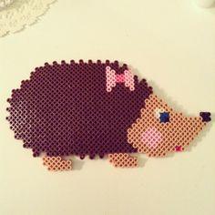 Hedgehog perler beads by _rainbowloom_22