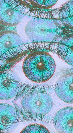 Eye wallpaper x Psychedelic Art, Psychedelic Pattern, Arte Peculiar, Pink Lila, Psy Art, Tumblr Backgrounds, Grafik Design, Artsy Fartsy, Creepy