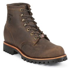 Chippewa Chocolate Apache Steel Toe Lace Up Boot 6 Inch Men Boots 20081