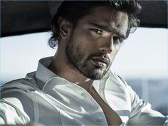 Model Marlon Teixeira stars in the Jimmy Choo Man Ice fragrance campaign.