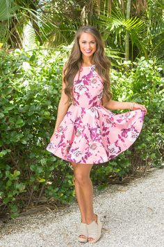 Make My Heart Dance Floral Dress Pink - The Pink Lily