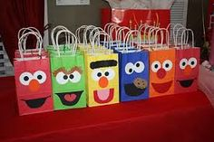 all you need is different color bags and construction paper and its very cheap!