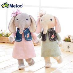 12.5 Pouce En Peluche Doux Mignon Belle Kawaii En Peluche Bébé Enfants Toys pour les Filles D'anniversaire Cadeau De Noël 30 cm Éléphant Metoo poupée