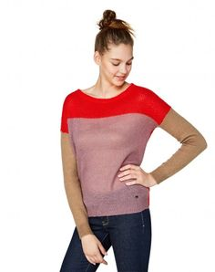Color-Block-Pullover Rot - Frau | Benetton