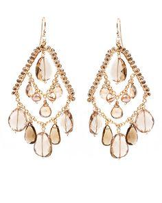 "Amanda Sterett ""Francesca"" Gold Earrings"