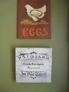 Wooden French Bakery Sign Kitchen Decor French Cafe Bakery