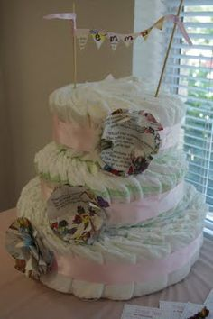 book flowers diaper cake