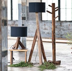 Fabulous Sustainable Home Art: Nice Reclimed Wood Lamps Eco Fiendly Items Design Ideas