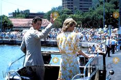Princess Diana in Australia During the Bicentenary Celebrations -Arriving at Gosford, New South Wales Photo: Alpha-Globe Photos Inc 1988