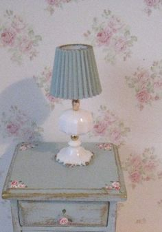 Shabby Chic bedside side table white door Insomesmallwayminis