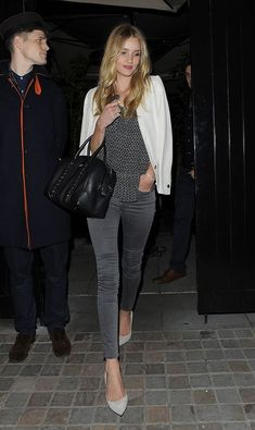 naimabarcelona:  Rosie Huntington-Whiteley in London