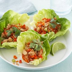 Chicken Lettuce Wraps are a popular item on restaurant menus, so I was thrilled when I perfected this scrumptious lighter version that I can make at home. It has all the punch of the original but with far fewer calories and much less fat and sodium.