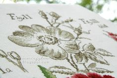 Étude La Rose - Véronique Enginger cross stitch, Étude botanique, haft krzyżykowy, handmade, robótki ręczne, rose, róża, zielnik