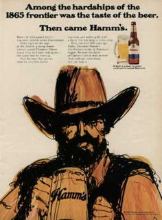 1970 Hamm's Beer 1865 Frontier Hardships Ad | eBay.   Sold for $2.25  plus $2 S&H