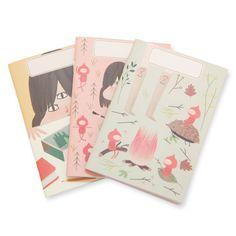 Garden Folk Mini #Notebook Set by @paiandpear