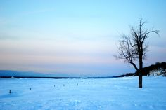 Winter sunset at Holland State Park