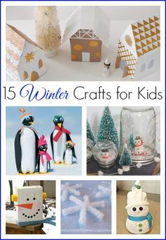 15 Winter Crafts for Kids - fun snow day activities