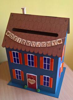 Pudełko na koperty. House for greeting cards! Wedding box