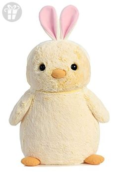 "PomPom Chick with Pink Bunny Ears 16"" by Aurora (*Amazon Partner-Link)"