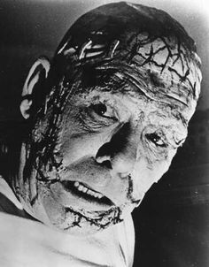Lon Chaney Jr. as the Frankenstein monster on the early television series, Tales of Tomorrow.