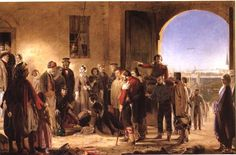 Florence Nightingale Receiving the Wounded at Scutari - 1856 - The Mission of Mercy by Jerry Barrett.