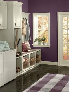 """Paint Your Escape: Top 5 Autumn Inspired Purple Paint Colors. I kinda love this for the laundry room. it will never be a """"guys room"""" anyway"""