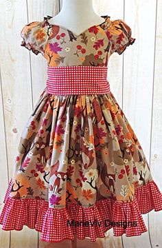 Girls Dress Girls Peasant Dress Girls Twirl by MarieVivDesigns, $50.00