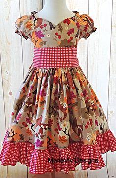 Girls Dress Girls Peasant Dress Girls Twirl by MarieVivDesigns, $50.00