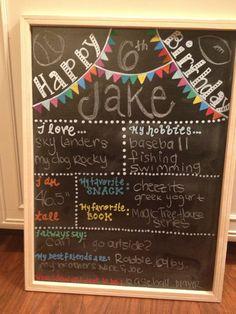 Children Chalkboard Birthday Sign  Blank by TreasuresbyTallulah, $50.00