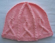 Free Knitting Pattern - Hats: Pink Ribbon Hat