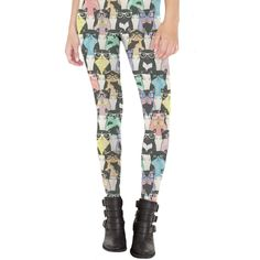 Nerdy Cats Leggings Made in USA by sharpshirter on Etsy https://www.etsy.com/listing/271229317/nerdy-cats-leggings-made-in-usa