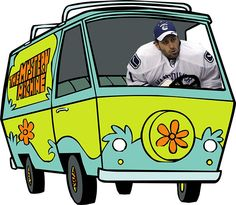 With Roberto Luongo trade rumours galore, makes sense he hops in the Mystery Machine. But could there be another mystery player involved? Could it be Cory Schneider? The plot thickens! Nhl, Hockey, Mystery, Fans, Field Hockey, Ice Hockey