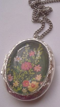 Vintage Style Locket Pill Box On A Fashionable Long Line Chain £8.00