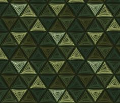 triangles green fabric by glimmericks on Spoonflower - custom fabric