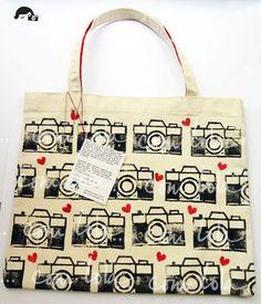 Hearts and cameras bag
