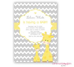 Hey, I found this really awesome Etsy listing at https://www.etsy.com/listing/155701718/baby-shower-giraffe-boy-or-girl-yellow