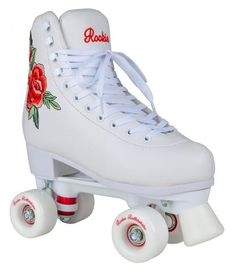 Rookie Roller Skates Rosa White Quad Skates In a method big pot, combine water, poultry Retro Roller Skates, Roller Skate Shoes, Quad Roller Skates, Roller Derby, Roller Skating, White Roller Skates, Roller Rink, Roller Quad, Rio Roller