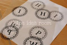 Free Printable Monograms - lots of uses great for bottle cap jewelry, glass tile jewelry & fridge magnets too! #ecrafty
