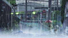 kvnai: The Garden of Words ( 言の葉の庭, Kotonoha no Niwa) Aesthetic Japan, Aesthetic Art, Aesthetic Anime, Ghibli, Macbook Air Wallpaper, The Garden Of Words, Japanese Animated Movies, I Love Rain, Gifs