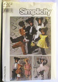 1980s Sewing Pattern Simplicity 8272 Adults' Clothes For Bear Costume Pattern Size Large Uncut by SewYesterdayPatterns on Etsy