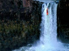 extreme kayaking down waterfall....this looks awesome