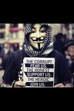 #Anonymous...This group, This movement has inspired me to think there IS Hope. They are AWESOME! May God continue to bless them.