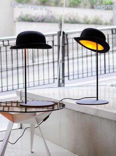 Originales lámparas con forma de sombrero