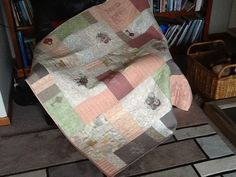 Rhona's quilt, embroidery designs from urban threads.