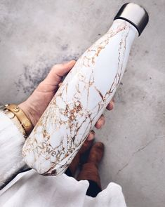 The perfect s'well bottle in a marble print to make getting fit and drinking more water more attractive!!! // s'well bottle, swell bottle, water, water bottle, drink more water, get water, marble, marble print. #shesthatgirlguide