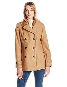 New Trending Outerwear: Lucky Brand Womens Zip Peacoat, Camel, M. Lucky Brand Women's Zip Peacoat, Camel, M   Special Offer: $69.92      344 Reviews Zip double-breasted pea coat with asymmetrical zipper and button cuff tabsCuff tabsAsymmetrical zipper
