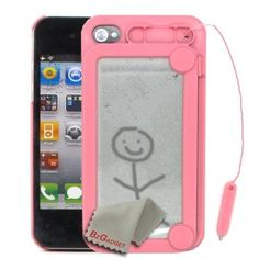 BZ Gadget Magnetic Drawing Case Cover Skin for Apple iPhone 4 & 4S (Pink) + BZ Gadget Cleaning Cloth by BZ Gadget