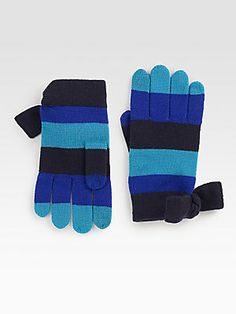 Kate Spade New York Striped Wool Gloves